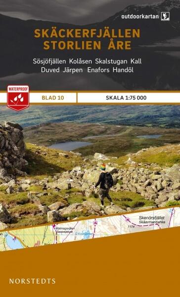 Skäckerfjällen - Storlien - Åre, Outdoorkartan Blatt 10, Schweden Wanderkarte 1:75.000