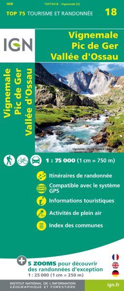 Vignemale, Pic de Ger 1:75.000 Rad- und Wanderkarte, IGN Top75018