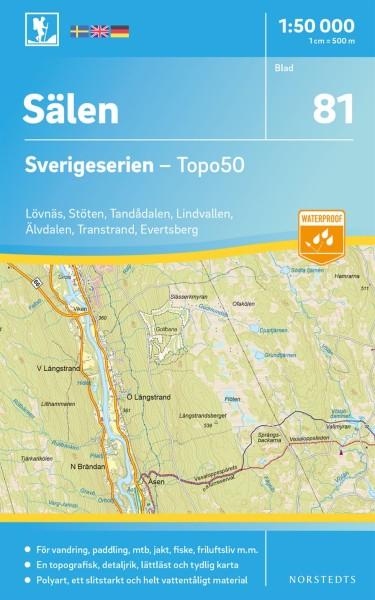 Sälen Wanderkarte 1:50.000, Schweden Topo50 Blatt 81