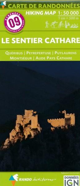 Rando Blatt 9: le sentier Cathare, Wanderkarte Pyrenäen 1:50.000