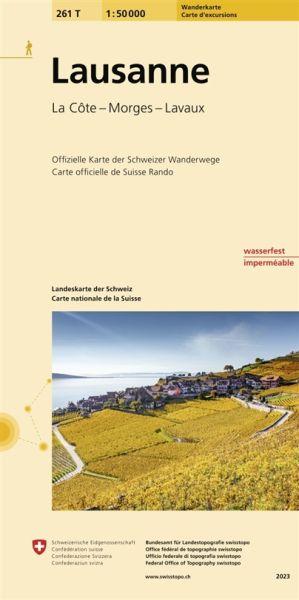 261 T Lausanne Wanderkarte 1:50.000 - Swisstopo