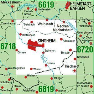 6719 SINSHEIM topographische Karte 1:25.000 Baden-Württemberg, TK25