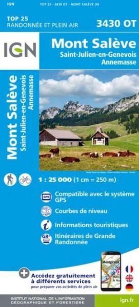 IGN 3430 OT Mont Saleve, Annemasse, Frankreich Wanderkarte 1:25.000
