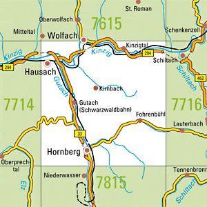 7715 HORNBERG topographische Karte 1:25.000 Baden-Württemberg, TK25