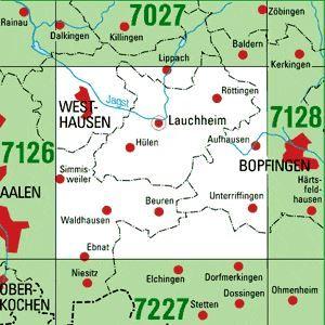7127 WESTHAUSEN topographische Karte 1:25.000 Baden-Württemberg, TK25