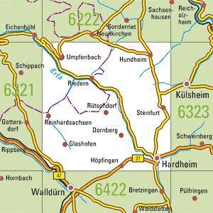 6322 HARDHEIM topographische Karte 1:25.000 Baden-Württemberg, TK25