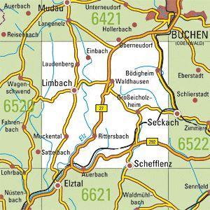 6521 LIMBACH topographische Karte 1:25.000 Baden-Württemberg, TK25