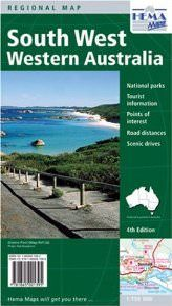 HEMA Regional Map South West Western Australia 1:750.000