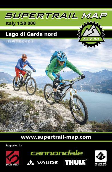 Supertrail Map Lago di Garda Nord/Gardasee nord Bike-Karte, 1:50T, Wasser- und reißfest