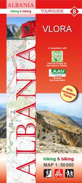 8 Vlora: Albanien Wander- und Radwanderkarte 1:50.000