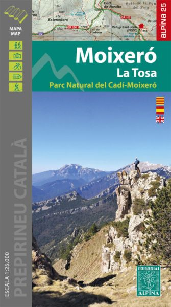 Moixero - La Tosa Wanderkarte 1:25.000 - Editorial Alpina