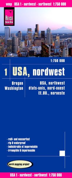 USA 1 Nordwest Landkarte 1:750.000, Reise Know-How