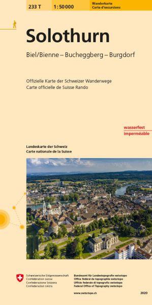 233 T Solothurn, topographische Wanderkarte Schweiz 1:50.000