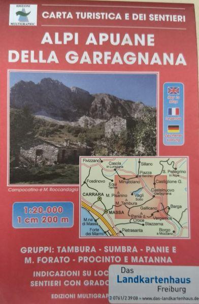 Edition Multigraphic 536, Alpi Apuane della Garfagnana Wanderkarte; 1:25.000