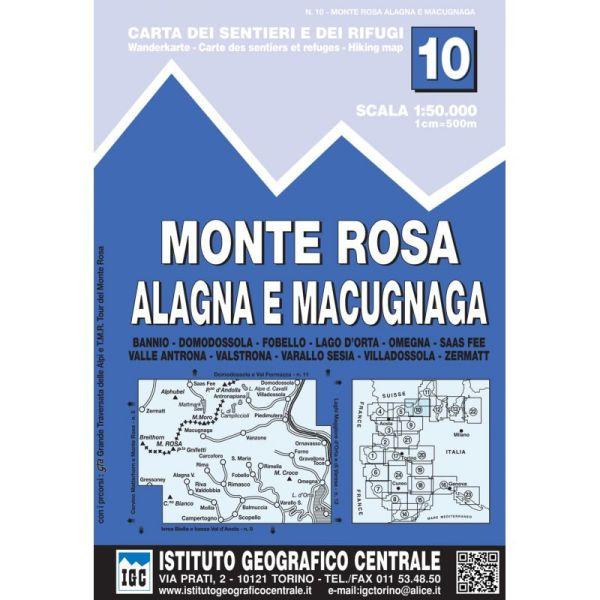 IGC 10 – Wanderkarte für Monte Rosa-Alagna e Macugnaga 1:50.000