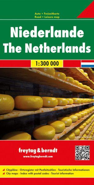 Niederlande, Straßenkarte 1:300.000, Freytag und Berndt