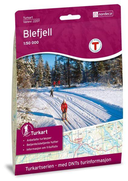 Blefjell Wanderkarte 1:50.000 – Norwegen, Turkart 2207 von Nordeca
