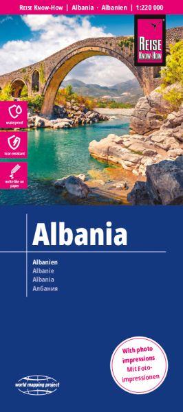 Albanien Landkarte 1:220.000, Reise Know-How