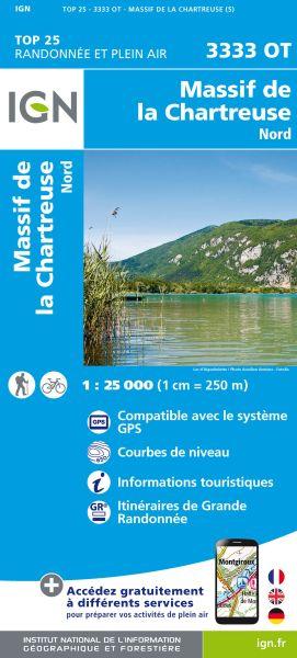 IGN 3333 OT Massif de la Charteuse nord, Frankreich Wanderkarte 1:25.000