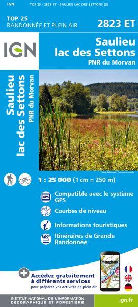 IGN 2823 ET Saulieu, Lac des Settons, Frankreich Wanderkarte 1:25.000