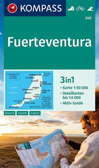 Kompass Karte 240 Fuerteventura Wanderkarte Radkarte