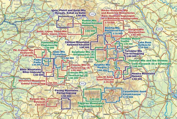 Karpatalja / Transkarpatien Straßenkarte 1:250.000 mit Stadtplänen, Dimap