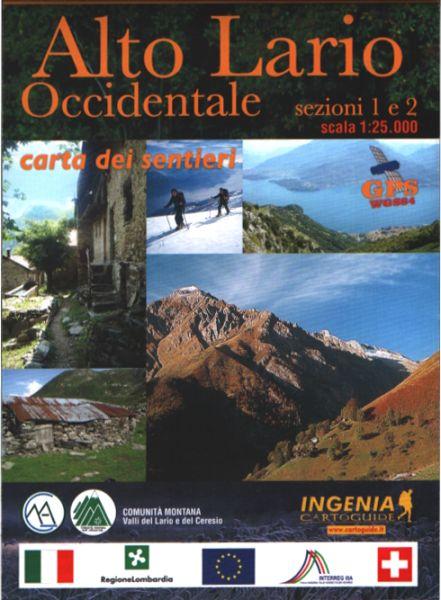 Wanderkarte für Alto Lario Occidentale in der Lombardei im Maßstab 1:25.000