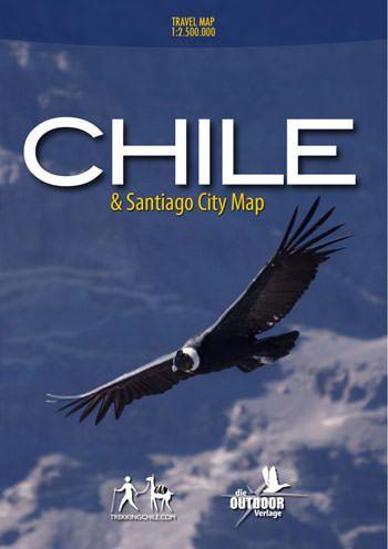 Straßenkarte: Chile mit Stadtplan von Santiago 1:2.500.000 / 1:10.000