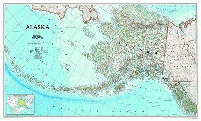 NGS Poster Alaska Landkarte 103 cm x 77 cm