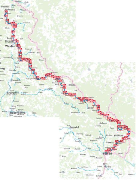 Goldsteig 2, Hikeline Wanderführer mit Karte