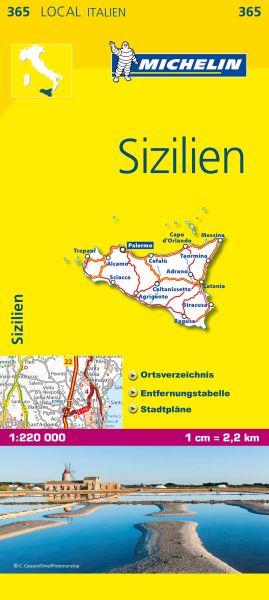 Michelin 365 Sizilien Straßenkarte 1:220.000