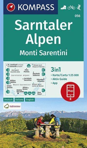 Kompass Karte 056, Sarntaler Alpenn 1:25.000, Wandern, Rad fahren