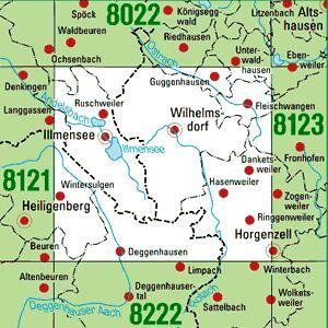 8122 WILHELMSDORF topographische Karte 1:25.000 Baden-Württemberg, TK25