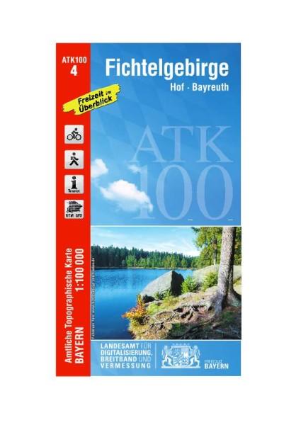 ATK100 Blatt 4 Fichtelgebirge, Freizeitkarte, 1:100.000 amtliche topographische Karte