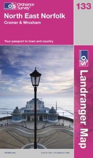 Landranger 133 North East Norfolk Wanderkarte 1:50.000 - OS / Ordnance Survey