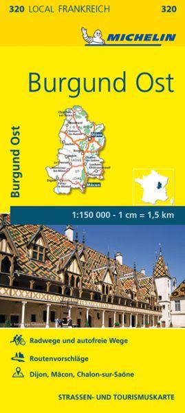 Michelin local 320 Burgund Ost Straßenkarte 1:150.000