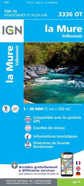 IGN 3336 OT La Mure, Valbonnais, Frankreich Wanderkarte 1:25.000