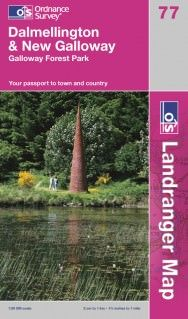 Landranger 77 Dalmellington & New Galloway Wanderkarte 1:50.000 - OS / Ordnance Survey