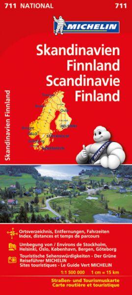 Michelin 711 Skandinavien, 1:1.500.000