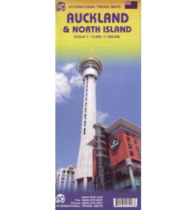 Auckland Stadtplan & Neuseeland Nordinsel Landkarte, ITM