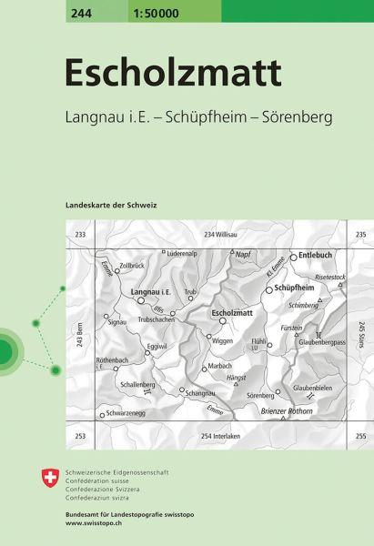 244 Escholzmatt topographische Wanderkarte Schweiz 1:50.000