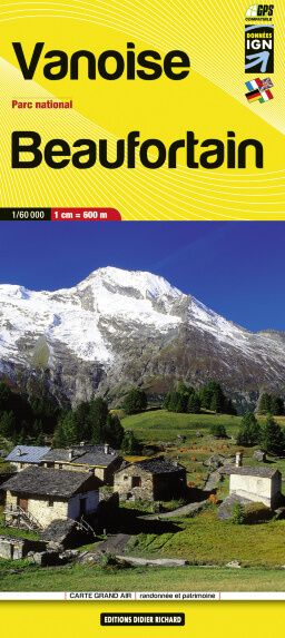 Editions Didier Richard 04 Vanoise / Beaufortain, Wanderkarte 1:60.000
