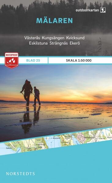 Mälaren / Mälarsee, Outdoorkartan Blatt 25, Schweden Wanderkarte 1:50.000