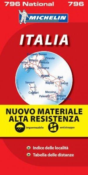 Michelin National 796: Italien Straßenkarte 1:1.000.000, wetterfest