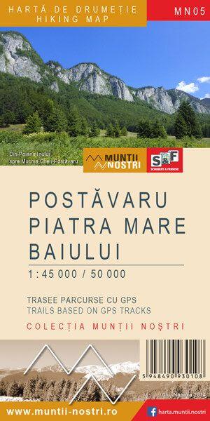 Postavarul, Piatra-Mare, Baiului Wanderkarte 1:50.000 MN05