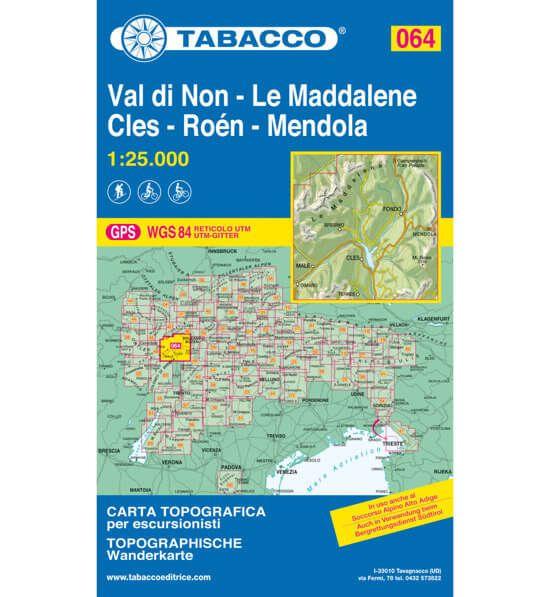 Tabacco 064 Val di Non – Le Maddalene Wanderkarte 1:25.000