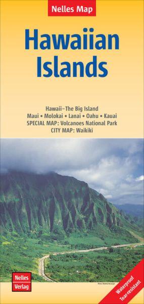 Nelles Maps, Hawaiian Islands 1:330.000 / 1:150.000, wasser- und reißfest