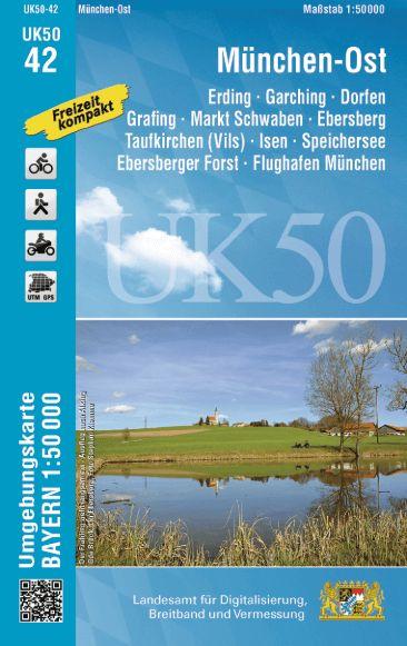 UK50-42 München Ost Rad- und Wanderkarte 1:50.000