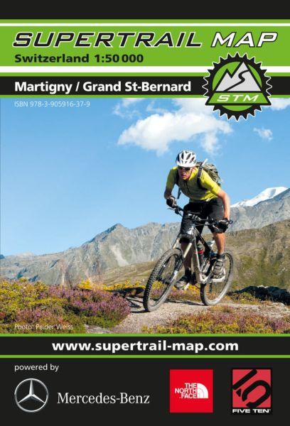 Supertrail Map Martigny / Grand St.-Bernard MTB-Karte, 1:50.000, Wasser- und reissfest