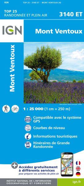 IGN 3140 ET Mont Ventoux, Mormoiron, Frankreich Wanderkarte 1:25.000